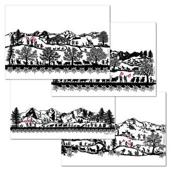 Papiertischset SWISS TRADITION1 4 Sujets