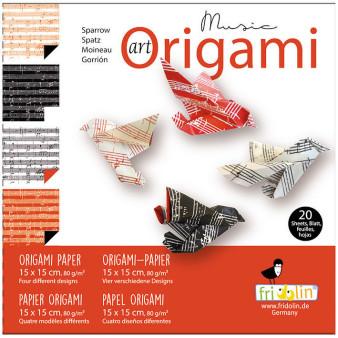 Faltpapier Origami Noten 15x15