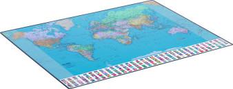 Schreibunterlage Welt 65x50cm