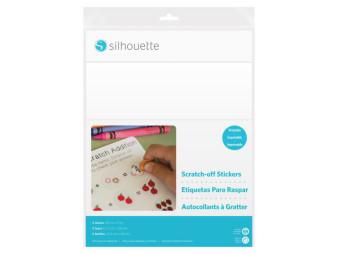 Silhouette Stickerpapier Aufkratz Papiersticker bedruckbar