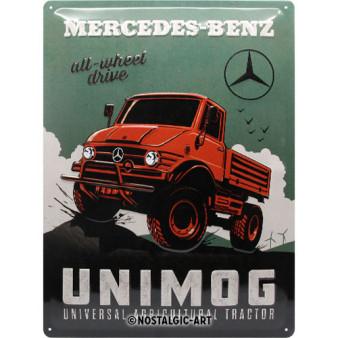 Schild Mercedes-Benz - Unimog, 30x40