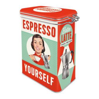 Clip Top Box Espresso Yourself, 11x18x8