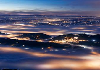 Weihnachtskarte 8161 Aussicht über Nebelmeer