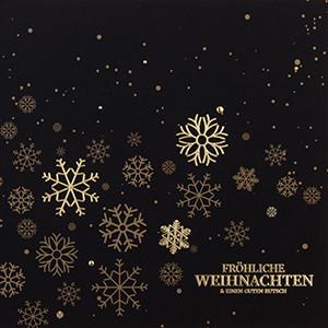 Weihnachtskarte 8921 goldene Schneeflocken