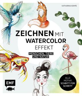 Buch Zeichnen mit Watercolor-Effekt