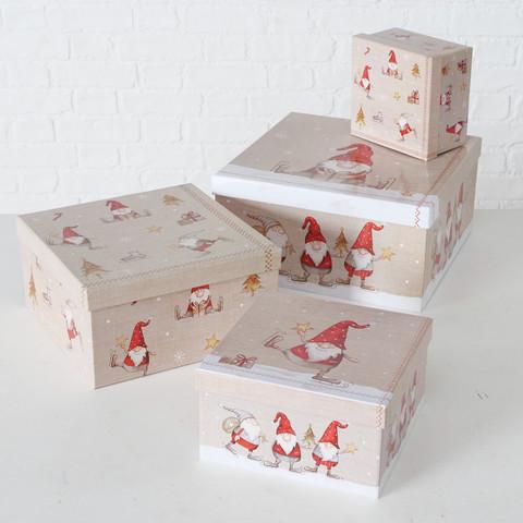 Geschenkbox Bolle quadrat./ Set à 4 *