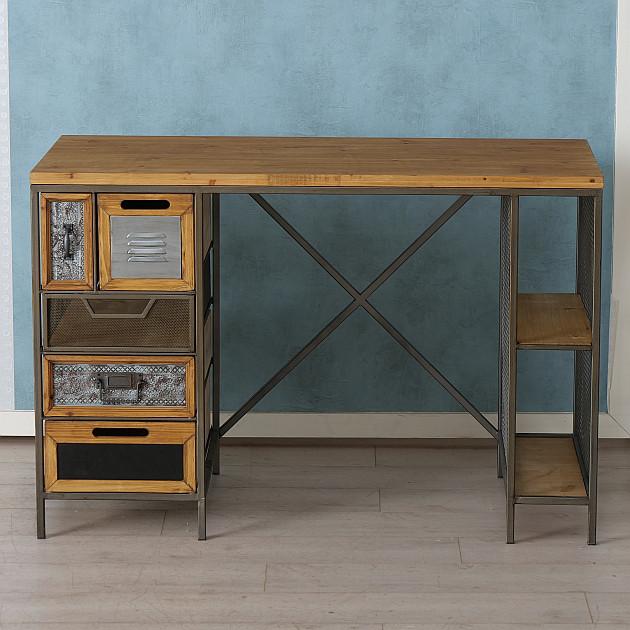 Schreibtisch Teslar, H76xB55, Shabby