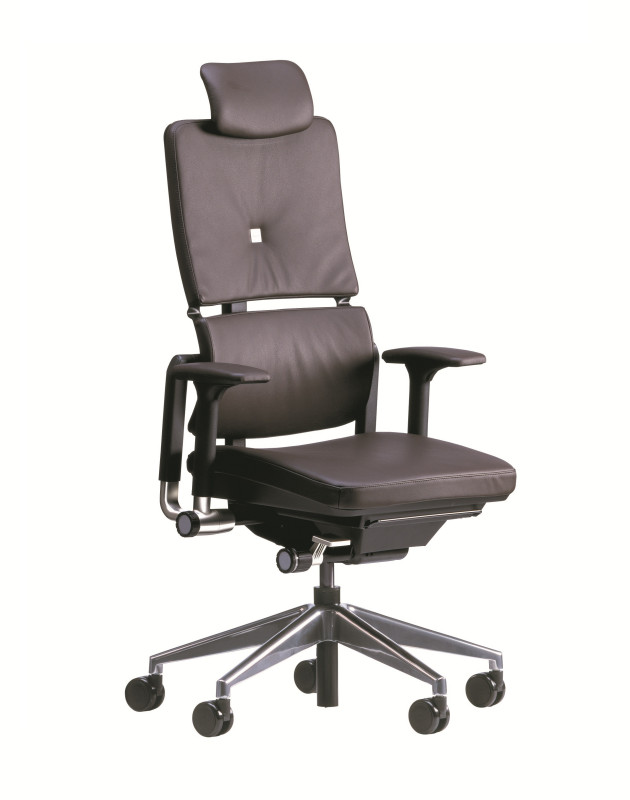 BÜROSTUHL STEELCASE NEW PLEASE LEDER