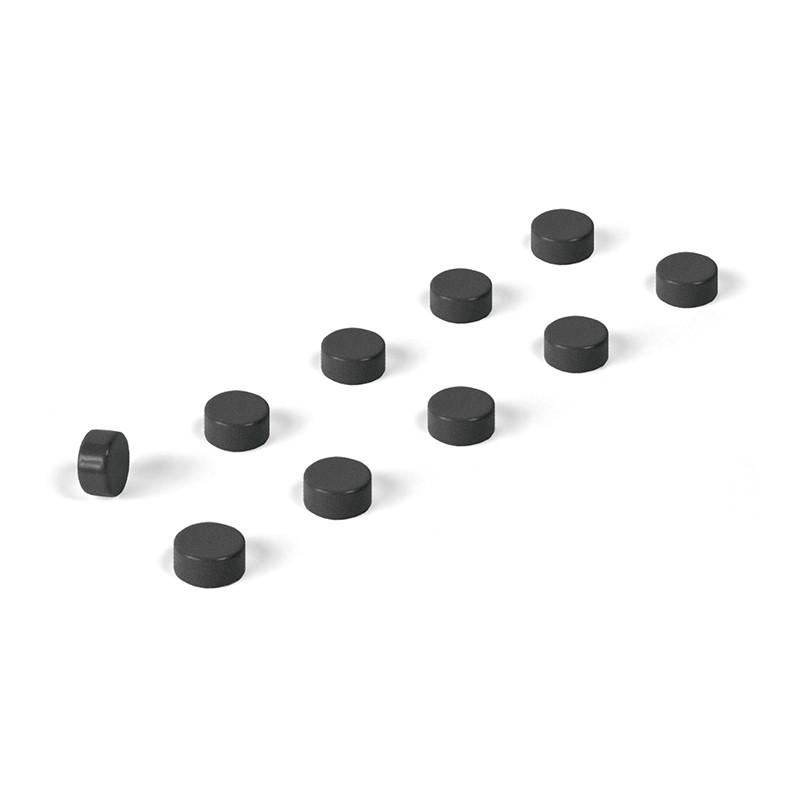 Magnete STEELY 10er Set schwarz