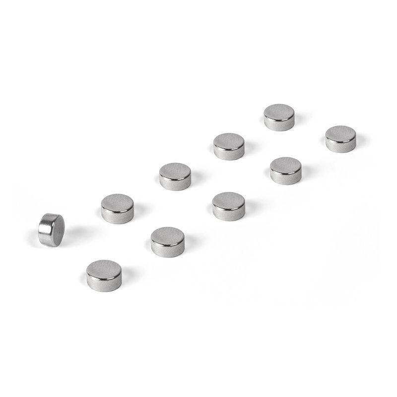 Magnete STEELY 10er Set silbern
