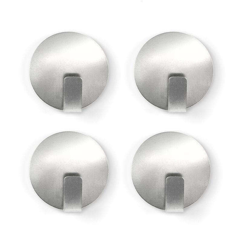 Magnethaken SOLID 4er Set Edelstahl mit Anti-Slip