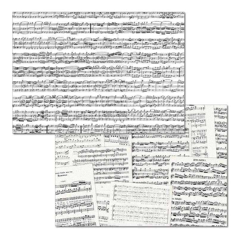 Papiertischset CONCERTO Mehrfachblock - 2 Sujets à 25 Blatt