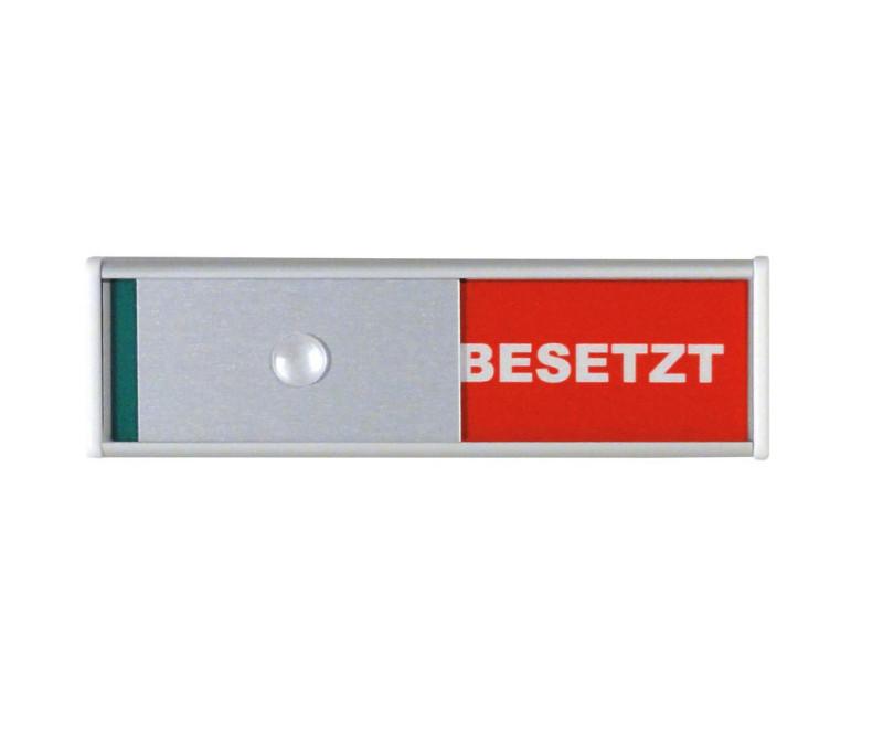 TÜRSCHILD FREI / BESETZT SILBER