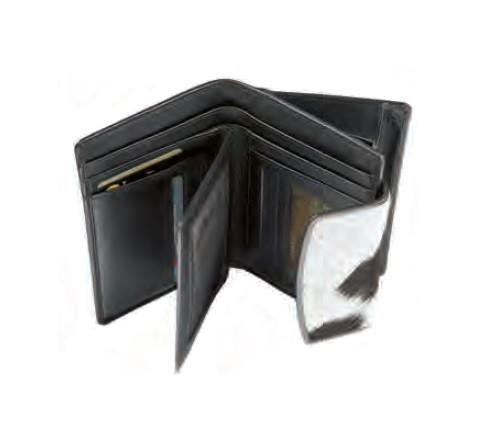 Portemonnaie Maverick Leder/Fell, braun