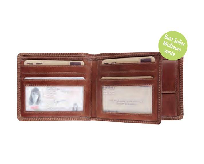 Portemonnaie Maverick Leder braun
