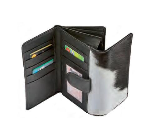 Portemonnaie Maverick Leder/Fell braun