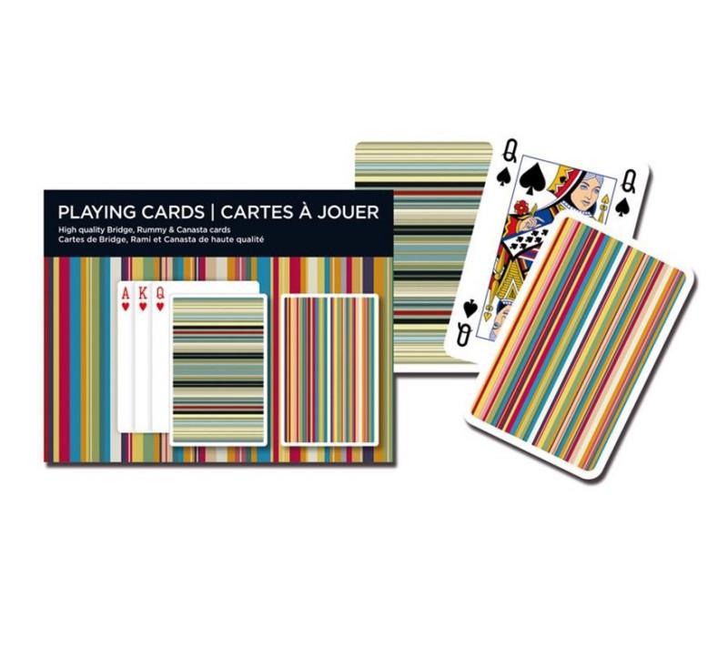 Kartenspiel Bridge Stripes Doppel