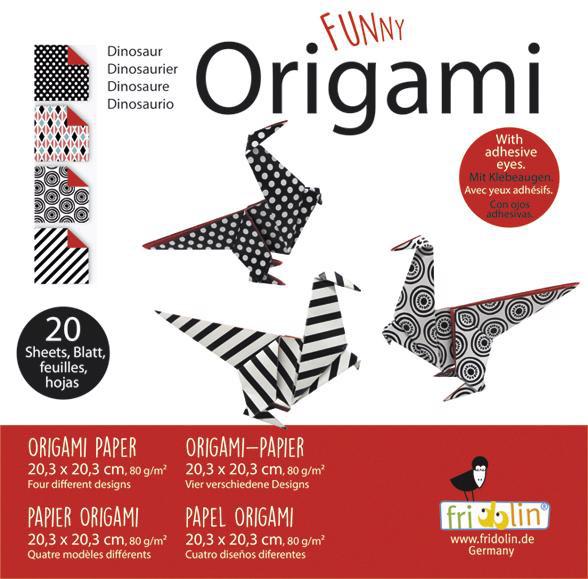 Faltpapier Origami Saurier 20x20