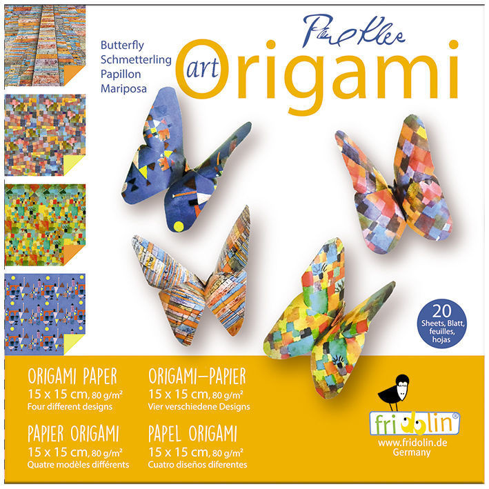 Faltpapier Origami Schmetterling 15x15