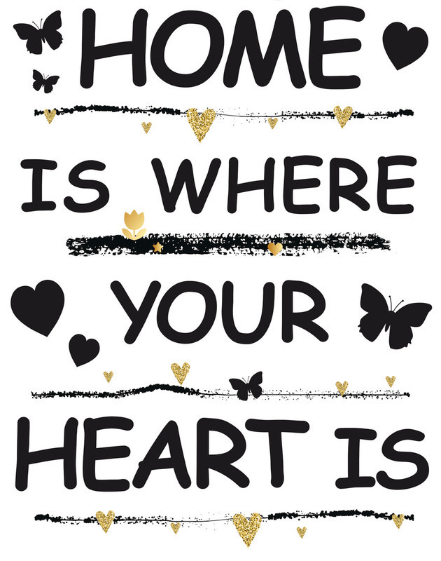 Fensterbilder Home is where your heart is