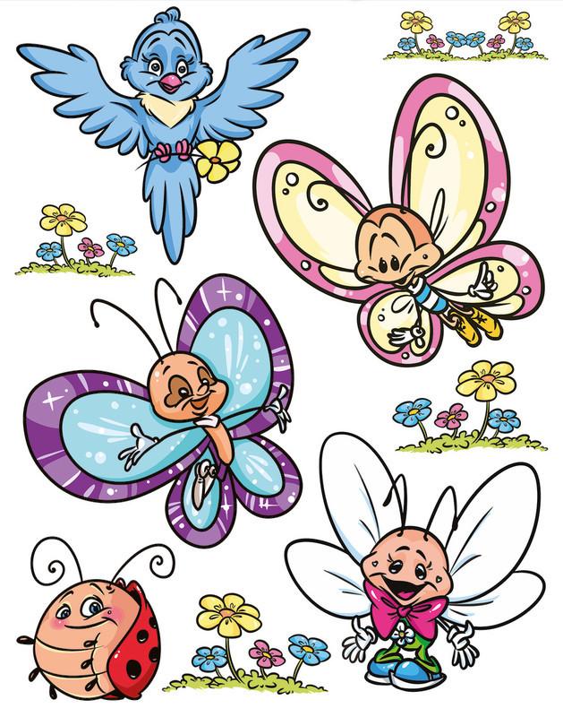 Fensterbilder Schmetterlinge + Friends