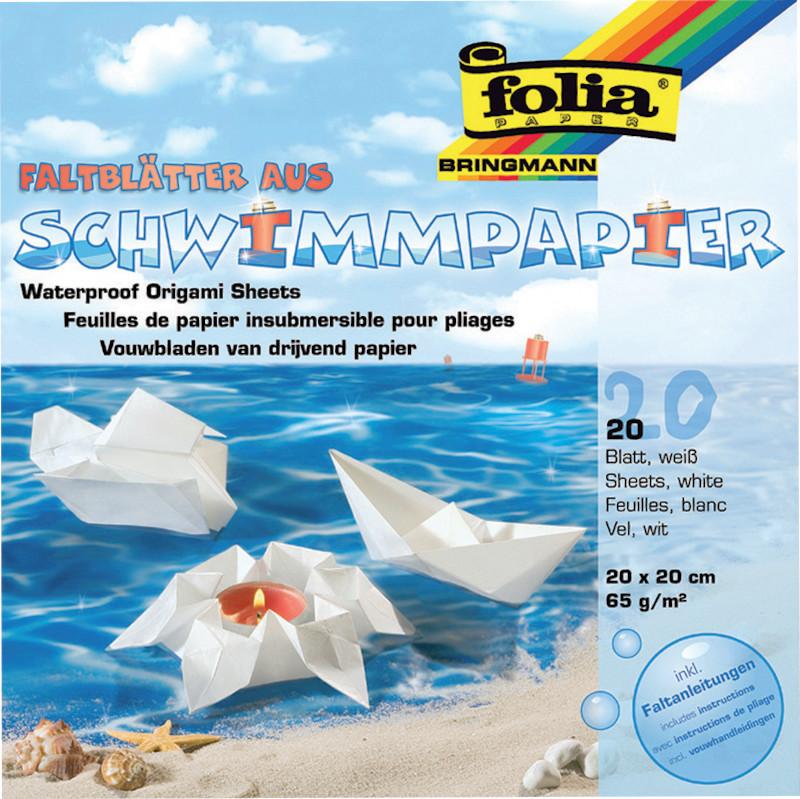 FALTPAPIER SCHWIMM 20x20cm 65g/20