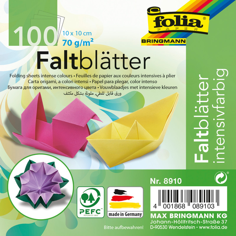 FALTPAPIER ORIGAMI 10x10 /100BLT