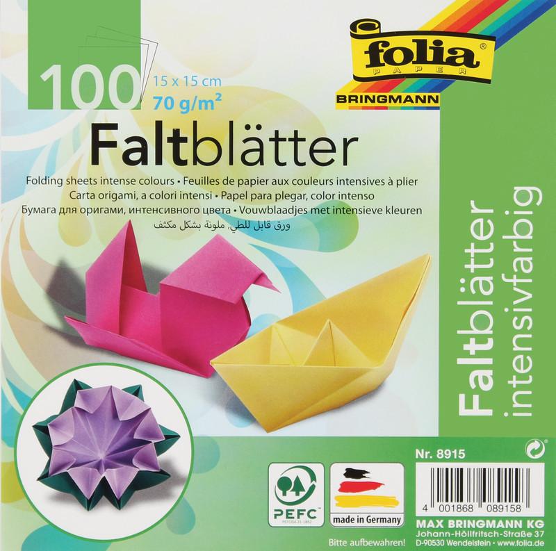 FALTPAPIER ORIGAMI 15x15cm/100BLT