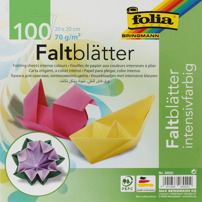 FALTPAPIER ORIGAMI 20x20cm/100BLT