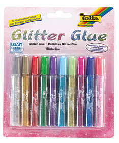 GLITTER-GLUE FOLIA 9,5ml/10pen