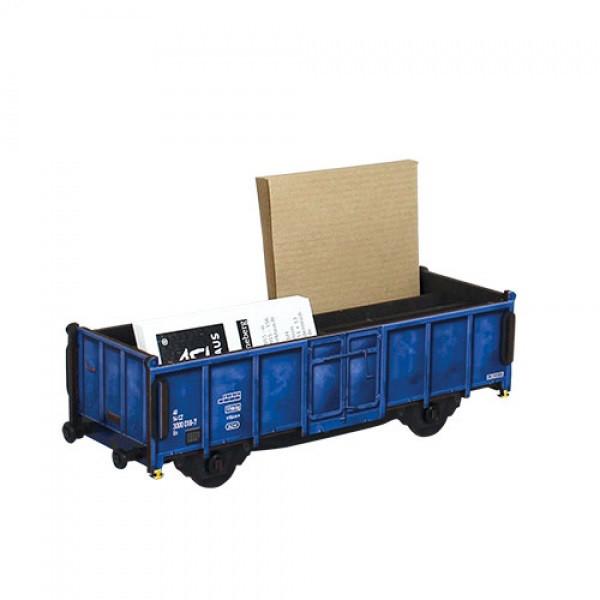 Stiftebox Güterwagen Blau