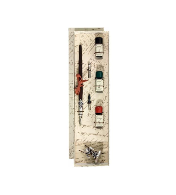 Kalligraphie-Set Metallfederhalter 3xTinte