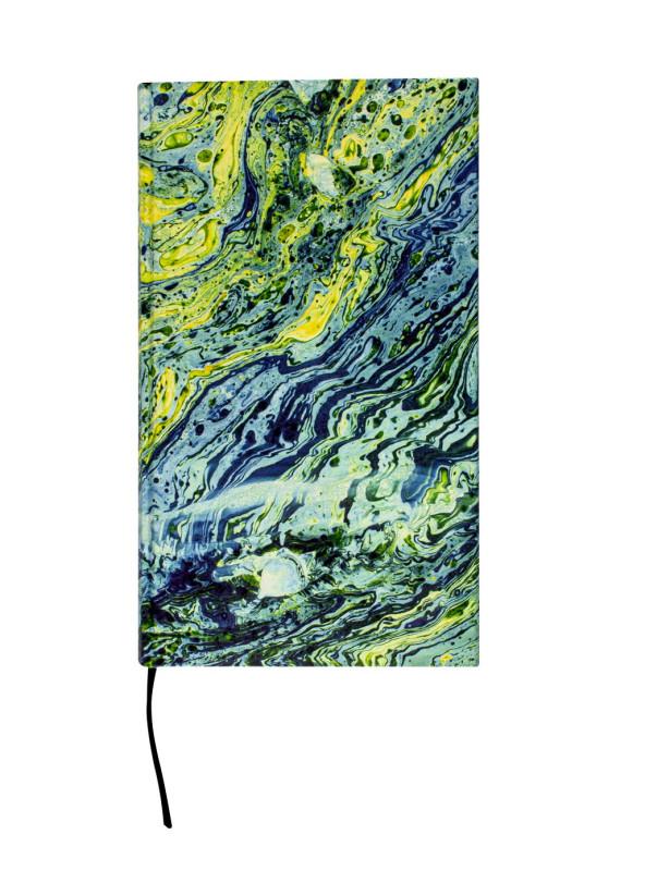 Notizbuch Marmor blau/grün 172S