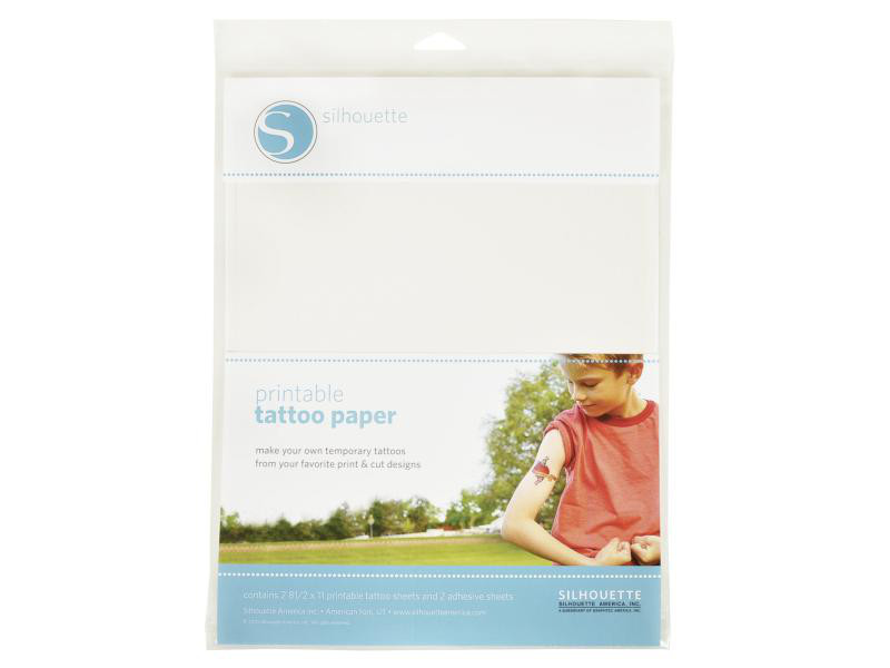 Silhouette Tattoopapier bedruckbar transparent