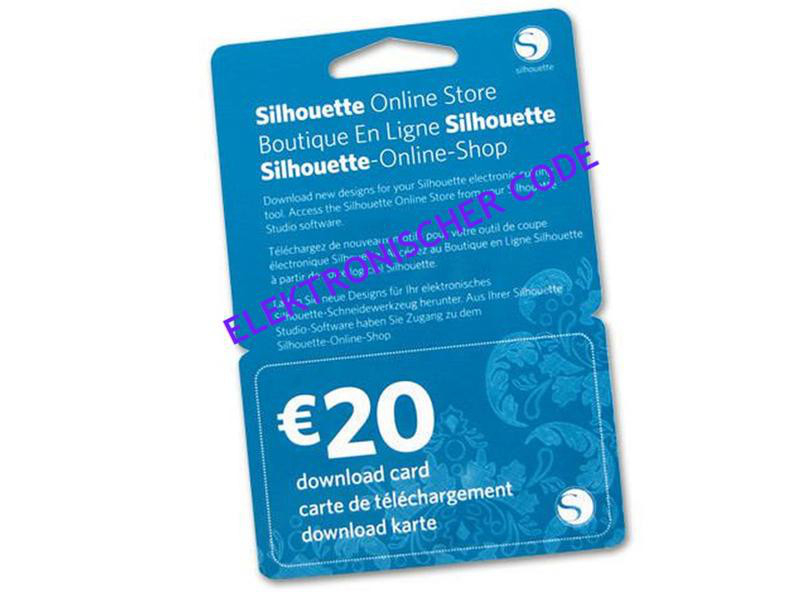 Silhouette Download-Karte 20 EUR elektronischer Code