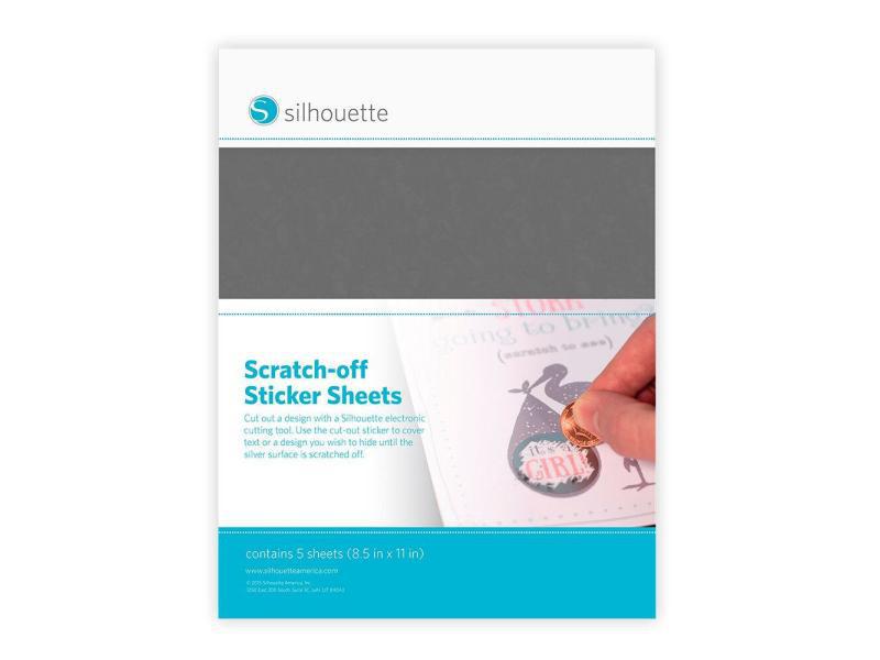 Silhouette Stickerpapier zum Aufkratzen Silbergrau