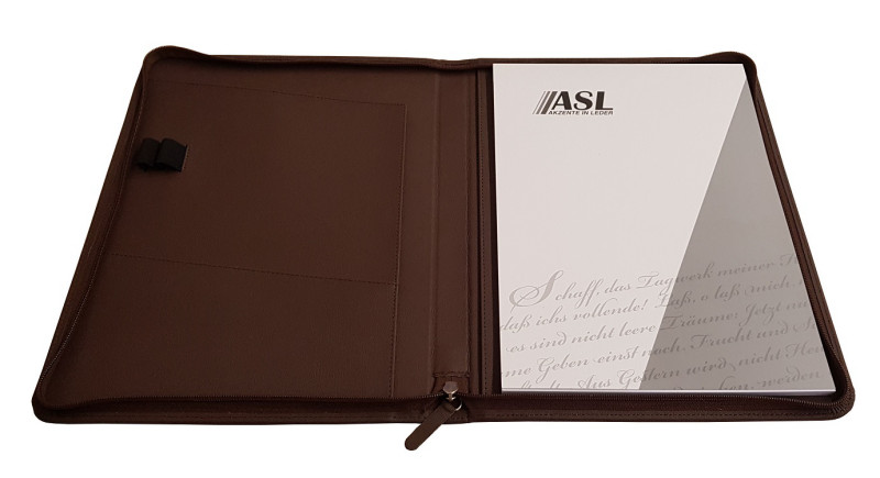 RV-Schreibmappe A4 Apple Kleder, schwarz