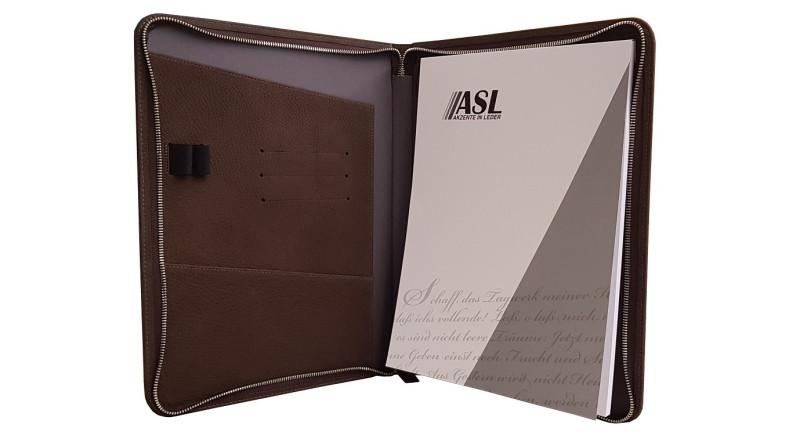 RV-Schreibmappe A4 Leder schwarz