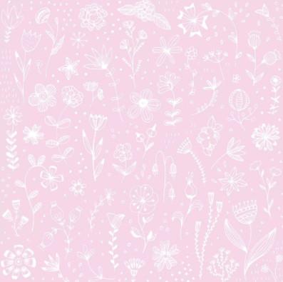 Serviette 33cm Pure Flower rosé