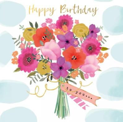 Serviette 25cm Happy Flowers