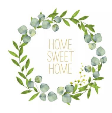 Serviette 33cm Sweet Home