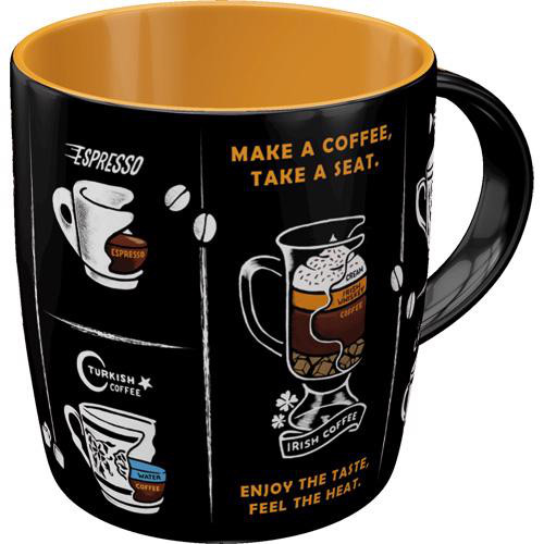 Tasse All Types of Coffee Mugs, 8.5x9, 330ml