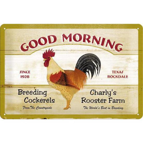 Schild Good Morning, Animal Club, 20x30 / A402