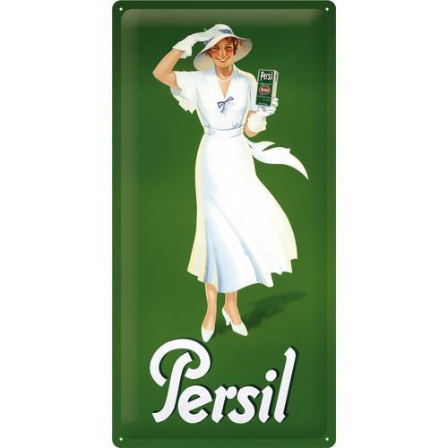 Schild Persil - Weiße Dame Grün 1933, 25x50
