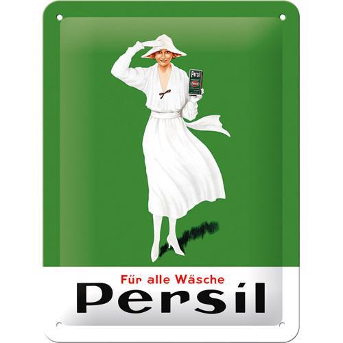 Schild Persil - Weiße Dame Grün 1922, 15x20