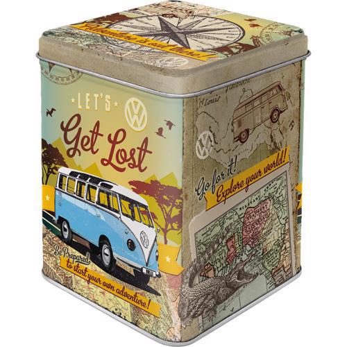Dose Tea Box, VW Bulli, 7.5x7.5x9.5