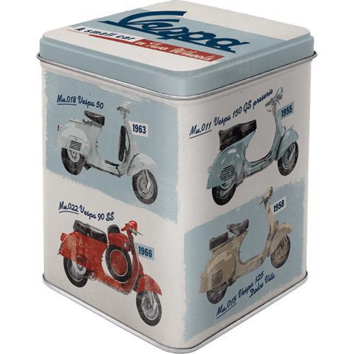 Dose Tea Box, Vespa, 7.5x7.5x9.5