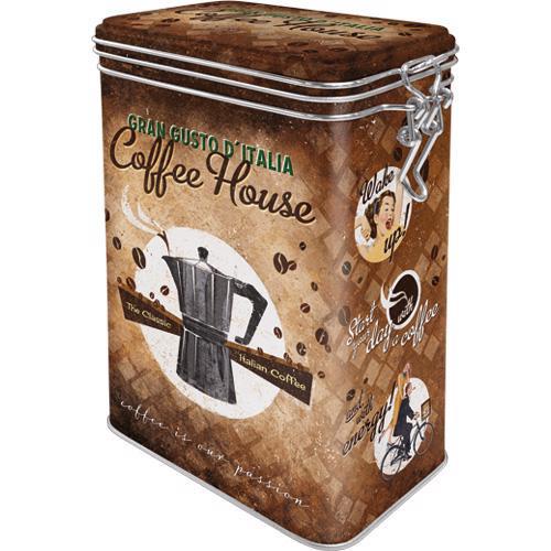 Clip Top Box Coffee House,11x18x8