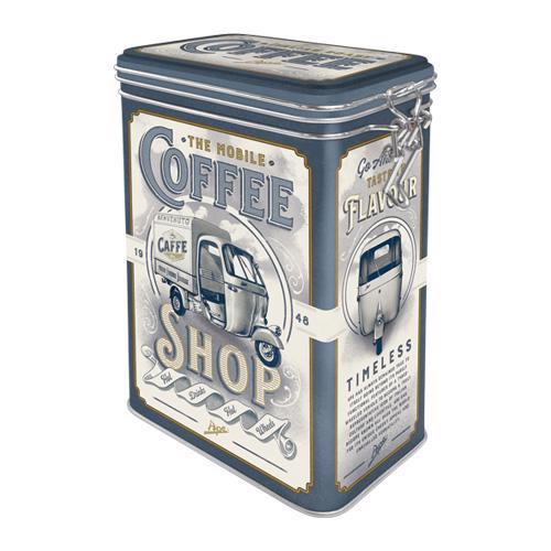 Clip Top Box Ape - Coffee Shop, 11x18x8