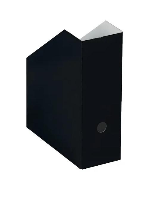ZEITSCHR.BOX A4 KARTON SCHWARZ